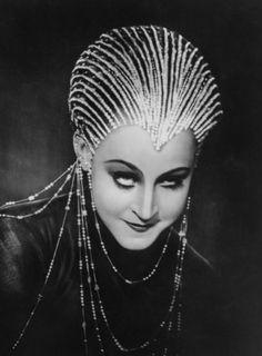 Brigitte Helm in costume for Metropolis
