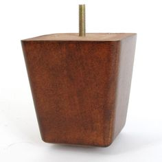 Leg Daddy 4 Medium Brown Finish Square Tapered Wooden Sofa Hanger Bolts