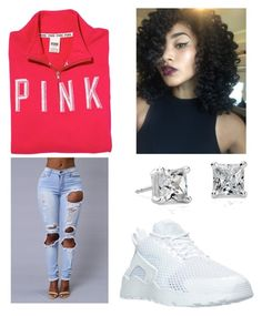 """""""Fine dime ✨"""" by brejeasmith ❤ liked on Polyvore featuring Victoria's Secret PINK, Blue Nile and NIKE"""