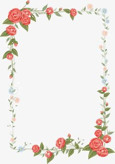 Latest Flowers Border Design | Arts | Pinterest | Border Design, Wordpress  And Template