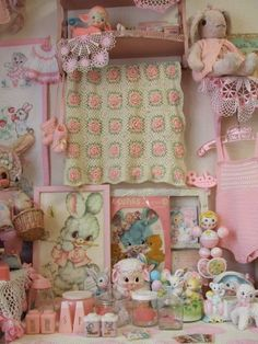 Sweet vintage baby collectibles.
