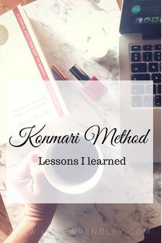 Konmari Method – The Lesson's I learned Konmari Method, Marie Kondo, Tidy Up, Check It Out, Learning, Simple, Blog, Life, Art