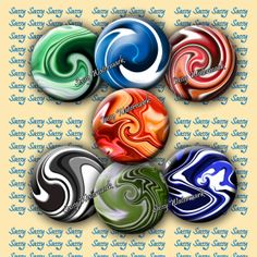 Marbles Inch circles for Magnets Pendants by SassyCraftsBoutique, $2.22