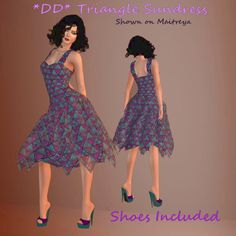 79cfc734893 Second Life Marketplace -  DD  Triangles Sundress by Dulcinea Designs  mesh   mesh