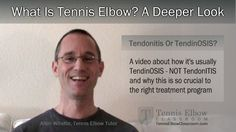 """If Tennis Elbow is just an irritated, inflamed tendon at your elbow – (what they call """"Tendonitis"""") – WHY doesn't it get better with a little ice, a little rest and a few anti-inflammatories?  Could there be more to your elbow pain and injury than that? (Especially if you've been in pain several months?)"""