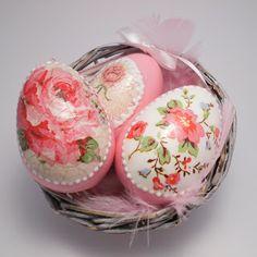 Decoromana: Lovely shabby chic Easter Eggs