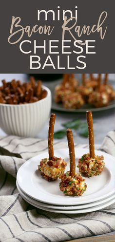 This mini bacon ranch cheese ball recipe is so easy to make and delicious! If you're looking for game day recipes, this is the perfect appetizer! | http://honeyandbirch.com | appetizer | cheese | cheddar | ranch | cheese ball | mini | game day | football | ideas | for a crowd | party | food | tailgating | super bowl | easy | classic | best