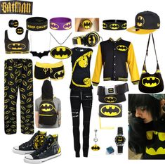 """Batman Obsession"" by walkingdeadnerd ❤ liked on Polyvore"