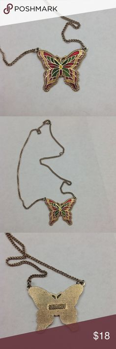 Sarah Coventry Butterfly Necklace Beautiful! Sarah Coventry Jewelry Necklaces
