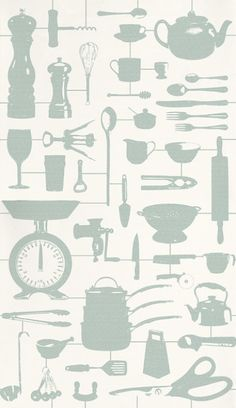 Airfix Kitchen Duckegg (26214) - Graduate Collection Wallpapers - Really like this.....Cute to frame a piece for kitchen art....maybe even on the walls between shelves in my hutch.