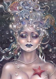 Maxine Gadd published fairy and fantasy artist. Exceptional digital illustrations and mystical beings Fantasy Mermaids, Mermaids And Mermen, Mythical Creatures, Sea Creatures, Fantasy Women, Fantasy Art, Illustration Fantasy, Merfolk, Mermaid Art