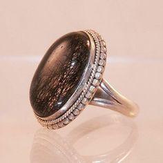 Vintage Rutilated Quartz Sterling Ring