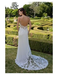 Look at the train on this airy, lightweight gown available at Spotlight Formal Wear! #SpotlightBridal