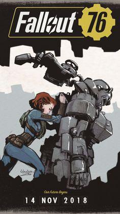 Artwork, fan made, Fallout 76, 720x1280 wallpaper