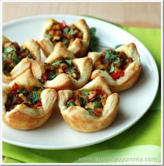 Savory and Sweet Puff pastry Cups