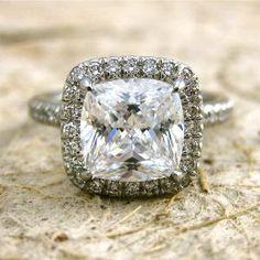 Platinum Micro Pave Diamond Engagement by Adzias Jewelry Atelier