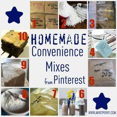 Homemade Convenience Mixes...easy and the savings can really add up!