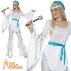 Super trooper abba #agnetha 70s ladies #womens fancy #dress costume uk 8 - 18,  View more on the LINK: 	http://www.zeppy.io/product/gb/2/161292898285/