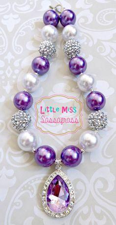 Princess Sofia Amulet Chunky Bubblegum Necklace by lilmisssassafras on Etsy https://www.etsy.com/listing/184812998/princess-sofia-amulet-chunky-bubblegum
