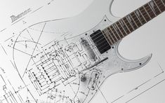 Ibanez+White+Electric+Guitar+Blueprint+Fretboard+Scratchplate+Pickups+Whammy+Bar+HD+Guitar+Music+Desktop+Wallpaper+1440x900+www.GreatGuitarSound.Blogspot.com.jpg (1440×900)