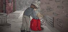 O casaco vermelho foi um presente de sua mãe, porém, entre o orgulho de usar seu casaco novo e quentinho, esse menino…