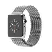 AppleWatch avec boîtier de 38mm en acier inoxydable et bracelet milanais à rabat aimanté  http://store.apple.com/xc/product/MJ322VC/A