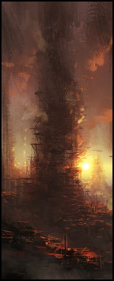 Mark Molnar - Sketchblog of Concept Art and Illustration Works: Slum Towers - Speedpainting