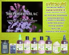 Midnight Lilac (Compare To Yankee Candle®) Product Collection - Picture yourself on a still night... moving through the summer garden, breathing in the rich blooms, anticipating the next intriguing scent to rise from the darkness like a mystery. #OverSoyed #MidnightLilac #YankeeCandle #Candles #HomeFragrance #BathandBody #Beauty
