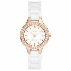 DKNY Ceramic Crystal Ladies Watch NY8214