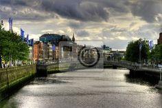 Wall Mural River Liffey in Dublin city, Ireland