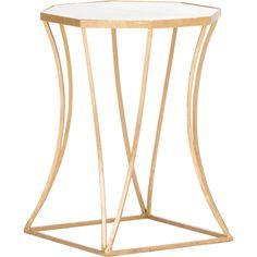 Cuadrado Side Table, Gold