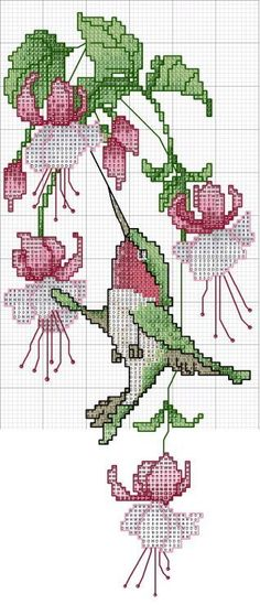 Botanical cross stitch - free cross stitch pattern: