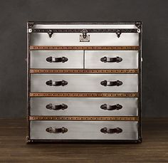 wondering if I could do this with any dresser, some brushed silver paint, a few leather strips and the right hardwear?