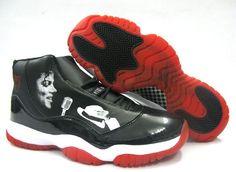 Mens Air Jordan Retro 1 Michael Jackson Black White shoes