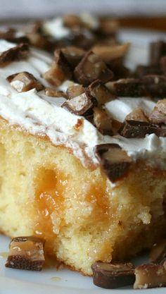 Easy Candy Bar Poke Cake