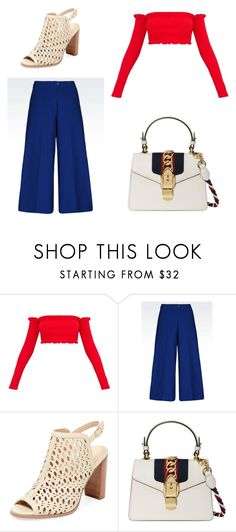 """Feliz 4 de julio 🇺🇸"" by becar ❤ liked on Polyvore featuring Renvy and Gucci"