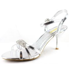 Save 10% + Free Shipping Offer * | Coupon Code: Pinterest10 Material: Man Made Material. 3 inches, 0.5 inch platform True to size, Sexy Evening Shoes Product Code: Mari-01 Silver Color Feel great in this pair of Celeste evening sandals, simple and yet elegant. Finish with adjus	le ankle strap for closure. Women's Celeste Mari-01 Silver Rhinestone Ankle Strap Evening Shoes
