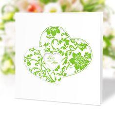 #Hochzeitseinladung Herzenssache grün: https://www.meine-hochzeitsdeko.de/hochzeitseinladung-herzenssache-gruen
