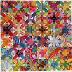 36 blocks joined- japanese x quilt