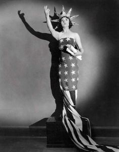 Actress Betty Compson as Lady Liberty