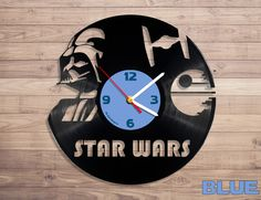Clocks – Star Wars vinyl record wall clock – a unique product by DenisVin on DaWanda