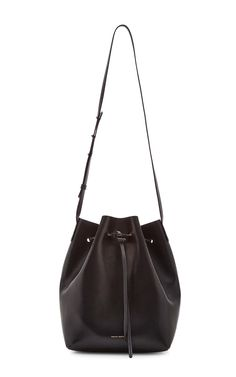 f67f7ebf3498 Vegetable Tanned Bucket Bag in Black with Gold by Mansur Gavriel Now  Available on Moda Operandi