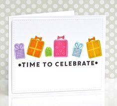 Hooray for KATE, Guest Designer for Muse Challenge (and Ardyth's very talented daughter)! Time To Celebrate, Periwinkle, Muse, Birthday Cards, Presents, Challenges, Pretty, Stamps, Handmade