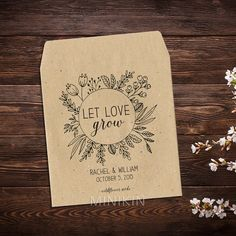 0b2c5eb49d 25 x seed packet wedding favours personalised with your names and wedding  date. These cute