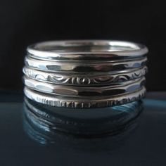 I had 5 stackable rings with a Navajo design that I purchased for my 24th birthday - my first birthday present to myself when I lived in LA the first time.  This past year I lost one of the rings and the stack hasn't felt right since.  Looking for a new stack - think I like this one but also keeping an eye out for other styles.