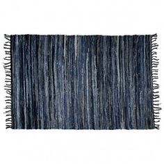Large Denim Chindi Rug – From 100% Cotton Recycled Blue Jeans