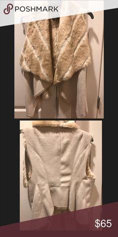 BEBE Faux fur vest 😍 size S Excellent cond! Will ship fast 😍 bebe Jackets & Coats Vests