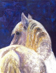 white horse - WetCanvas Peeps, Around The Worlds, Horses, Drawings, Artwork, Artist, Painting, Work Of Art, Painting Art
