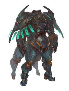 personal work, delke js on ArtStation at… Robot Concept Art, Armor Concept, Character Concept, Character Art, Character Design, Mecha Suit, Carapace, Suit Of Armor, Ex Machina