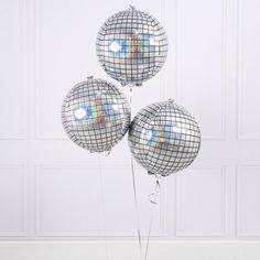 Disco ball party, Disco ball balloon pk of 3 by FabfunctionsByKelly on Etsy Disco Birthday Party, 70s Party, Dinosaur Birthday Party, 16th Birthday, Disco Party Decorations, Bachelorette Decorations, Party Themes, Party Ideas, Balloon Decorations